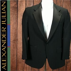 Vintage Black Wool and Satin Tuxedo blazer